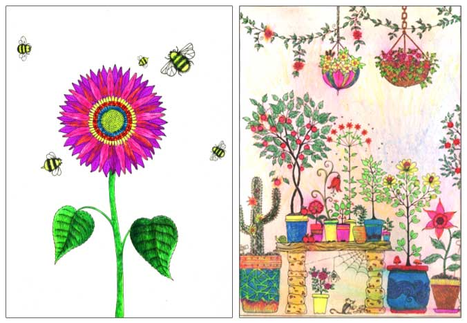 Coloured Pages From The Secret Garden Colouring Book Patricia Pinsk