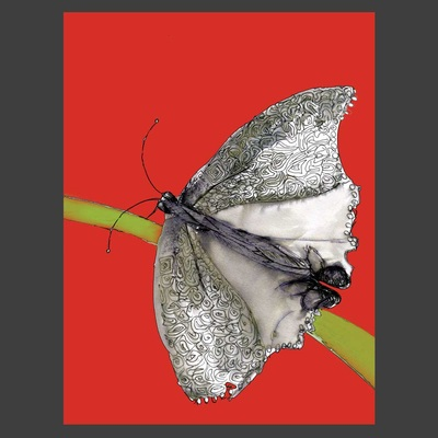 Butterfly, Medium: ink, digital collage~~ © Patricia Pinsk